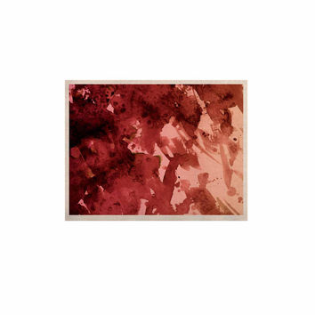 "Ebi Emporium ""Splash Out Red Coral"" Maroon Orange KESS Naturals Canvas (Frame not Included)"