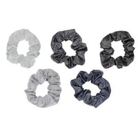 Velvet Scrunchies -Black/Grey