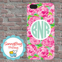 Designer (Lilly Pulitzer) Inspired Custom Monogram phone 4, 4s, 5 and Samsung III Cases! Lilly Pulitzer
