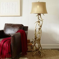 FAUX-ANTLER FLOOR LAMP BASE
