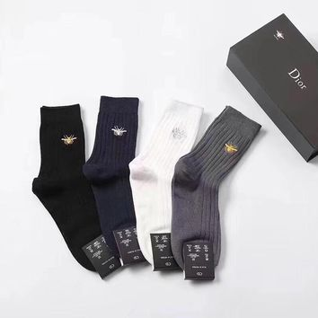 Dior Fashion 5 Pairs Per Set Sock Style #205