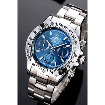 Rolex 2019 new men and women models wild simple quartz watch Blue