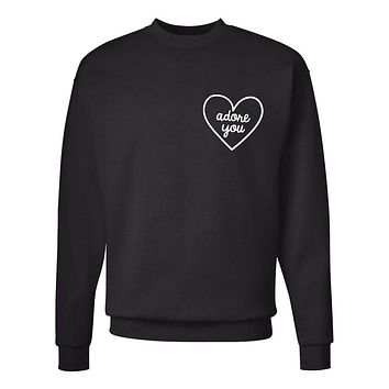 "Harry Styles ""Adore You Heart CORNER"" Crew Neck Sweatshirt (Sizes 3XL-5XL)"