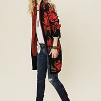 Free People Flower Power Cardi