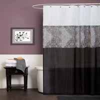 Lush Decor Anita Polyester Shower Curtain