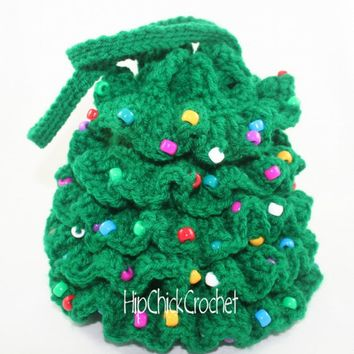 Christmas Tree Purse Crochet Pattern - Instant Download