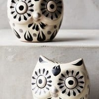 Folk Owl Salt & Pepper Shakers by Gorky Gonzalez Black Motif Salt/pepper House & Home