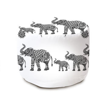 Ornamental Indian Elephants Pouffe
