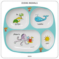Baby Cie Ocean Round Textured Sectioned Plate for Baby