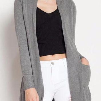 Ava Cardigan in Charcoal