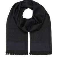 DCCK3SY Versace Collection Navy Medusa Geometric Scarf