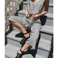MERIDIAN STRIPE JUMPSUITS - Dresses + Rompers - Shop