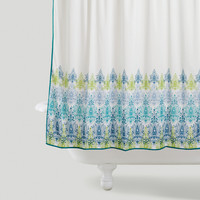 Blue/Green Print Shower Curtain - World Market