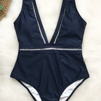 Cupshe Tranquil Cove V-neck One-piece Swimsuit