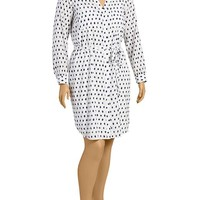 Old Navy Womens Plus Patterned Shirt Dresses
