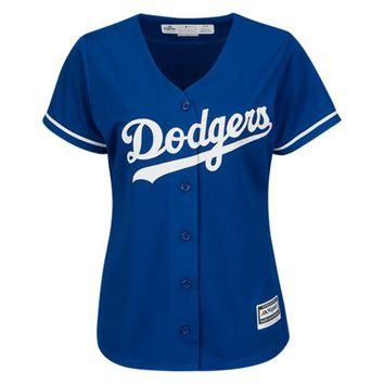 MLB Los Angeles Dodgers Women's Cool Base? Majestic Replica Jersey