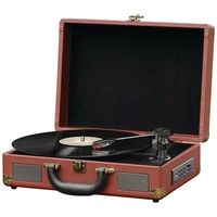 Pyle Home Bluetooth Vintage Briefcase-style Turntable Speaker System