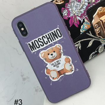 Moschino pin bear iPhoneX mobile phone case female protective cover #3