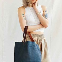 Thread & Paper Mixed Leather Tote Bag