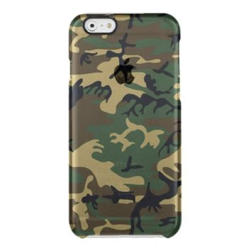 Cool Woodland Camouflage Pattern Uncommon Clearly™ Deflector iPhone 6 Case