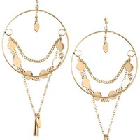 Chain Drape Hoop Earrings