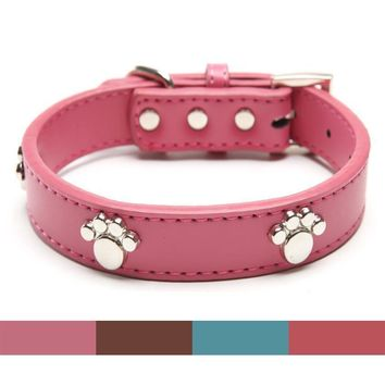 DOG COLLAR RED BONES BLING