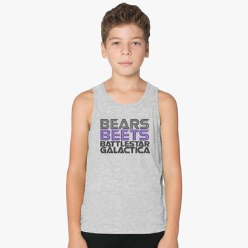 Bears, Beets, Battlestar Galactica Kids Tank Top