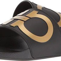 ONETOW Salvatore Ferragamo Men's Groove 2 Slides