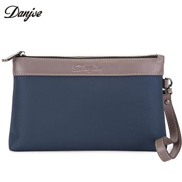 Men Bag High Quality Oxford Cloth Hand Bag Male Zipper Leisure Clutch Bag Waterproof Casual Men Phone Bag Solid Wallet