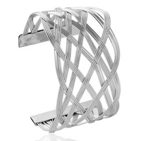 Alloy Cut Out Geometric Cuff Bracelet