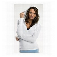 Bella Ladies Half- Zip Hooded Pullover $19.99