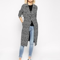 River Island Geo Print Trench Coat