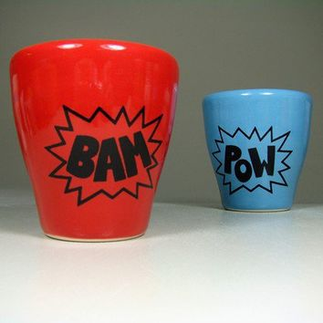 5oz tumbler BAM berry red  Made to Order / Pick by CircaCeramics