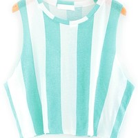 Fresh Color Striped Cropped Tank - OASAP.com