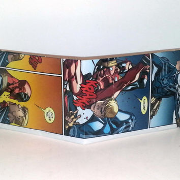 Comic Book Wallet// Deadpool vs Steve Rogers