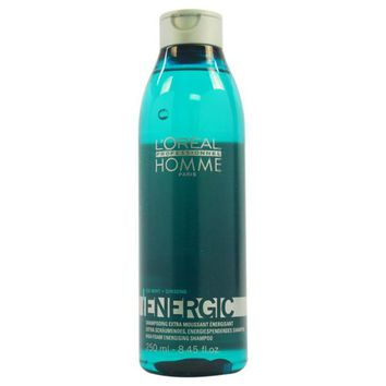 L'Oreal Professional Homme Energic Energizing Shampoo - Barbers and Stylists Approved