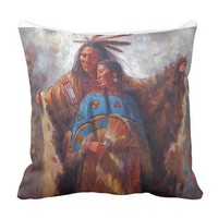 Native American's Throw Pillow