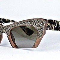 Miu Miu 02QS Sunglasses Brown Cat-eye