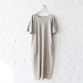 rennes — Lauren Manoogian Tall Tee Dress Grey Flax