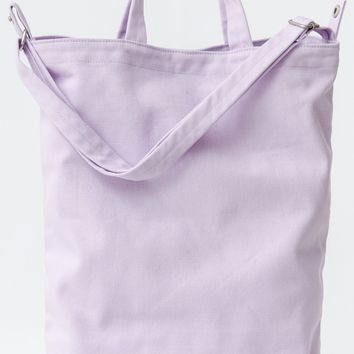 Lilac Recycled Canvas Duck Bag by Baggu