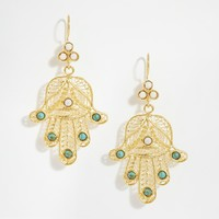 Ottoman Hands Festival Hand Drop Earrings