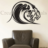 Vinyl Wall Decal Sticker Surf Surfing Waves Sport Extrime Summer Time r1787