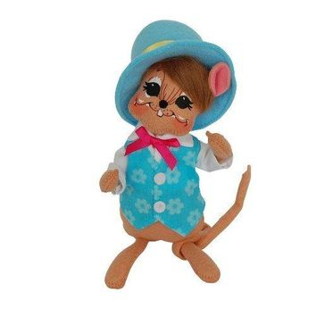 Annalee Dolls 6in 2014 Spring Boy Mouse Plush New with Tags