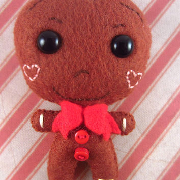 Christmas Ornament - Gingerbread Man - Holiday Ornament - Tree Ornament - Christmas