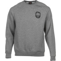 Spitfire Standard Issue Embroidered Crew Sweatshirt - Men's Gunmetal Heather/Black,