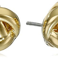 "kate spade new york ""Dainty Sparklers"" Knot Stud Earrings, Gold"