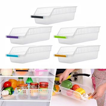 Hollowed-out Drawer Plastic Refrigerator Storage Box For Drinks Eggs Icebox Fridge Container Organizer (Size: Random Color)