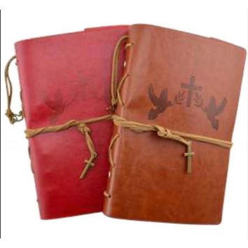 Christian Faith Leather Journal Planner Organizer Set