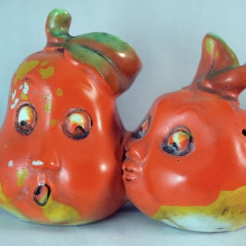 Vintage Salt and Pepper Shakers-Anthropomorphic