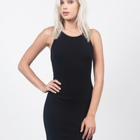 Strappy Back Textured Dress